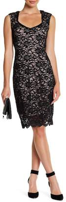Marina Floral Lace Sheath Dress $129 thestylecure.com