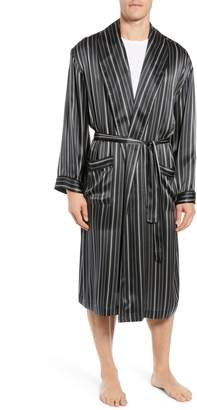 Majestic International Fresh Ink Stripe Silk Robe