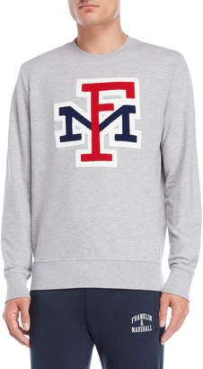 Franklin & Marshall Grey Varsity Logo Sweatshirt