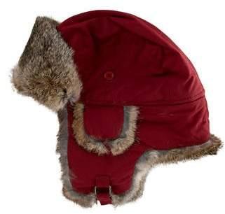 Fur Fur-Trim Trapper Hat