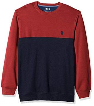 283067445b2e2 Izod Men s Big and Tall Advantage Performance Colorblock Fleece Soft  Crewneck Pullover