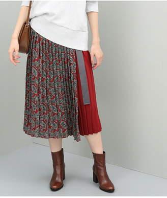 ADAM ET ROPÉ (アダム エ ロペ) - ADAM ET ROPE' FEMME ペイズリープリーツ巻きスカート アダムエロペ スカート