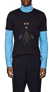 Fendi Men's Superbug Cotton T-Shirt - Navy