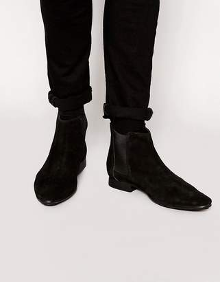 Frank Wright Suede Chelsea Boots