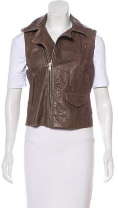 Rick Owens Distressed Leather Vest
