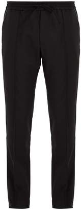 Valentino Slim-leg wool-blend trousers