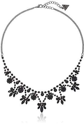 "GUESS Basic"" Jet Dainty Floral Necklace"