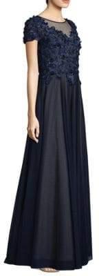 Basix II Black Label Embellished Illusion Gown