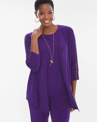 Chico's Chicos Ring-Trim Cardigan
