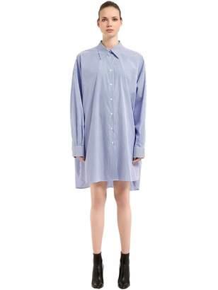 Maison Margiela Oversize Striped Poplin Shirt Dress