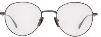 Gucci Round Frame Metal Glasses - Mens - Grey