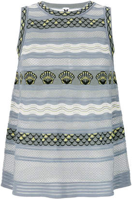 M Missoni striped knit tank top