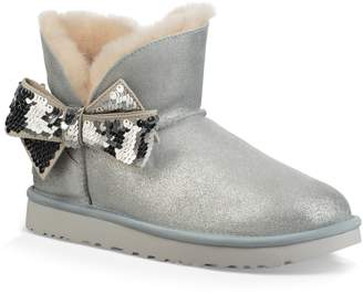 UGG Mini Sequin Bow Bootie