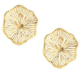 Oscar de la Renta Coral Lace Earrings