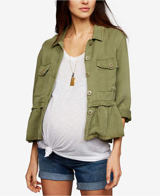 A Pea in the Pod Maternity Peplum Jacket
