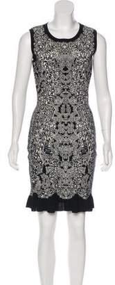 Alexander McQueen Jacquard Knee-Length Dress w/ Tags
