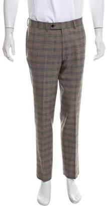 John Varvatos Wool Glen Plaid Pants