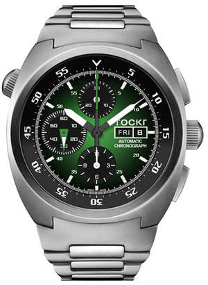 Tockr Watches Men's Air Defender Chronograph Stainless Steel Watch