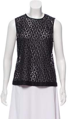Equipment Lace Sleeveless Top
