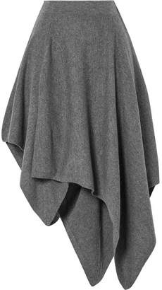 Michael Kors Asymmetric Cashmere Skirt - Gray