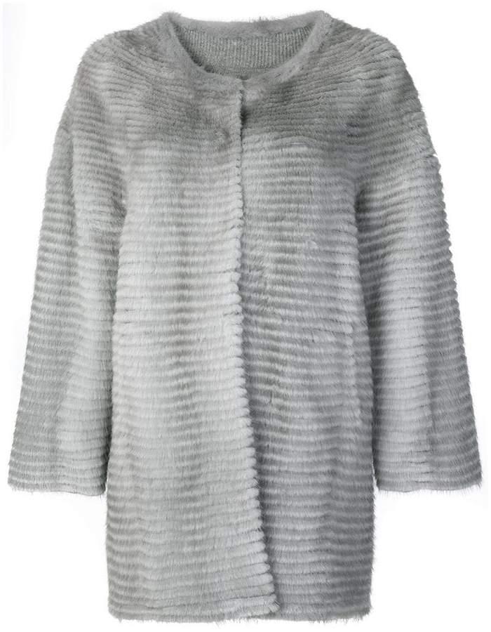 Liska collarless coat