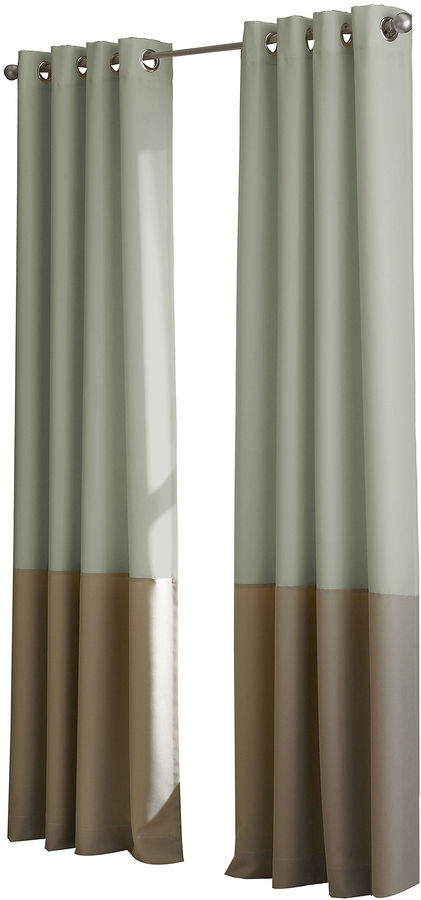 CHFChf Kendall Lined Colorblock Grommet-Top Curtain Panel