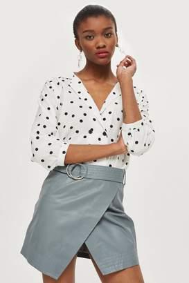 Topshop Asymmetric Wrap Mini Skirt