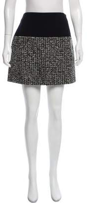 Bouchra Jarrar Tweed Wool-Blend Skirt