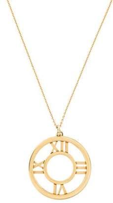 Tiffany & Co. 18K Atlas Medallion Pendant Necklace