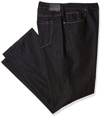 Perry Ellis Big and Tall Black Five Pocket Denim-Men's