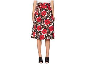 Kate Spade Poppy Field Wrap Skirt Women's Skirt