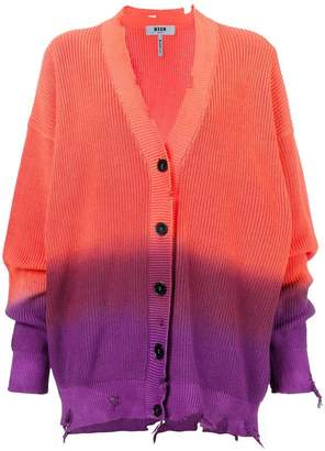 MSGM gradient oversized cardigan
