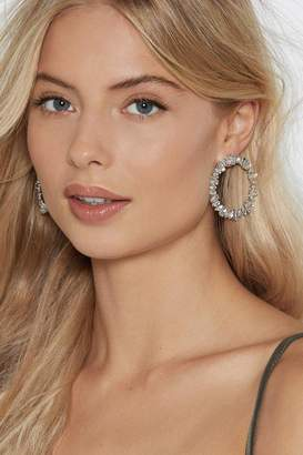 Nasty Gal Womens Diamonds Are Forever Circle Earrings - Grey - One Size