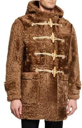 Burberry Men's Horsham Shearling Fur Teddy Toggle Coat