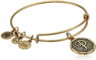 "Alex and Ani Rafaelian Gold-Tone Initial ""U"" Expandable Wire Bangle Bracelet"