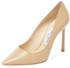 Jimmy Choo Romy 100mm Leather Pointed-Toe Pump