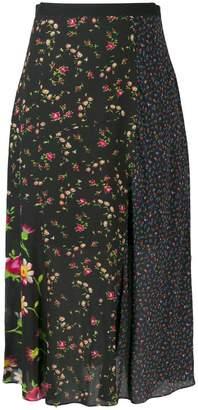 McQ panelled floral skirt