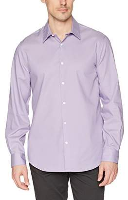 Perry Ellis Men's Long Sleeve Twill NonIron Spread Collar Shirt