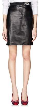 Prada Women's Lambskin Pencil Skirt - Black