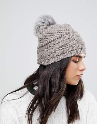Alice Hannah Chunky Cable Knitted Hat
