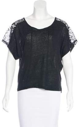 Patterson J. Kincaid PJK Lace-Trimmed Short Sleeve Top