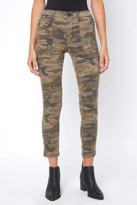 Sanctuary Camo Ankle Zip Twill Skinny Pant