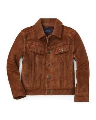 Ralph Lauren Suede Trucker Jacket, Size 5-7
