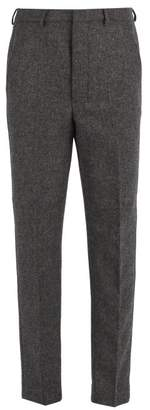 Ami Slim Leg Wool Trousers - Mens - Grey