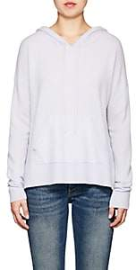Barneys New York WOMEN'S CASHMERE HOODIE-BLUE SIZE L