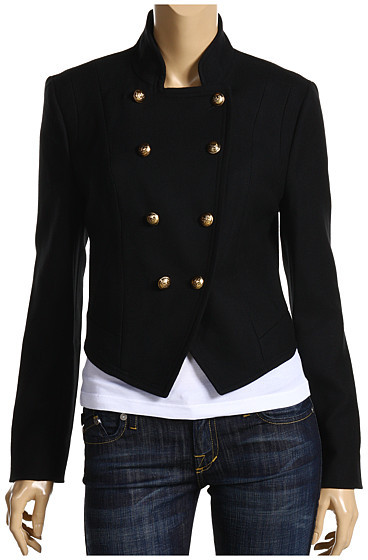 Juicy Couture Cadet Wool Asymmetric Front Jacket