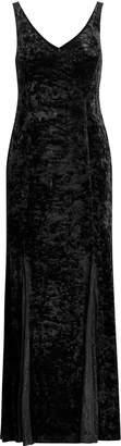 Ralph Lauren Lace-Trim Velvet Gown