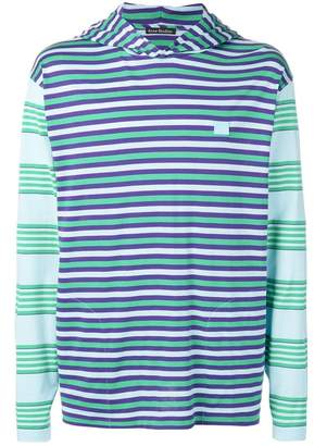 Acne Studios striped hooded T-shirt