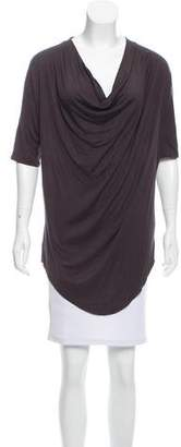 Helmut Lang Silk Cowl Neck Top