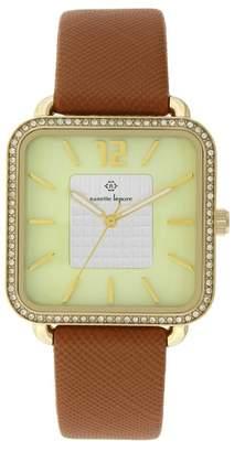 Nanette Lepore NANETTE Women's Quartz Faux Leather Strap Watch, 42mm